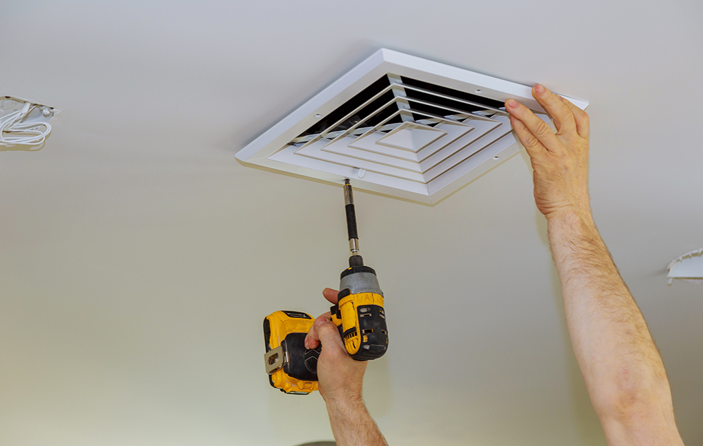 installing ducted air conditioning vent to ceiling